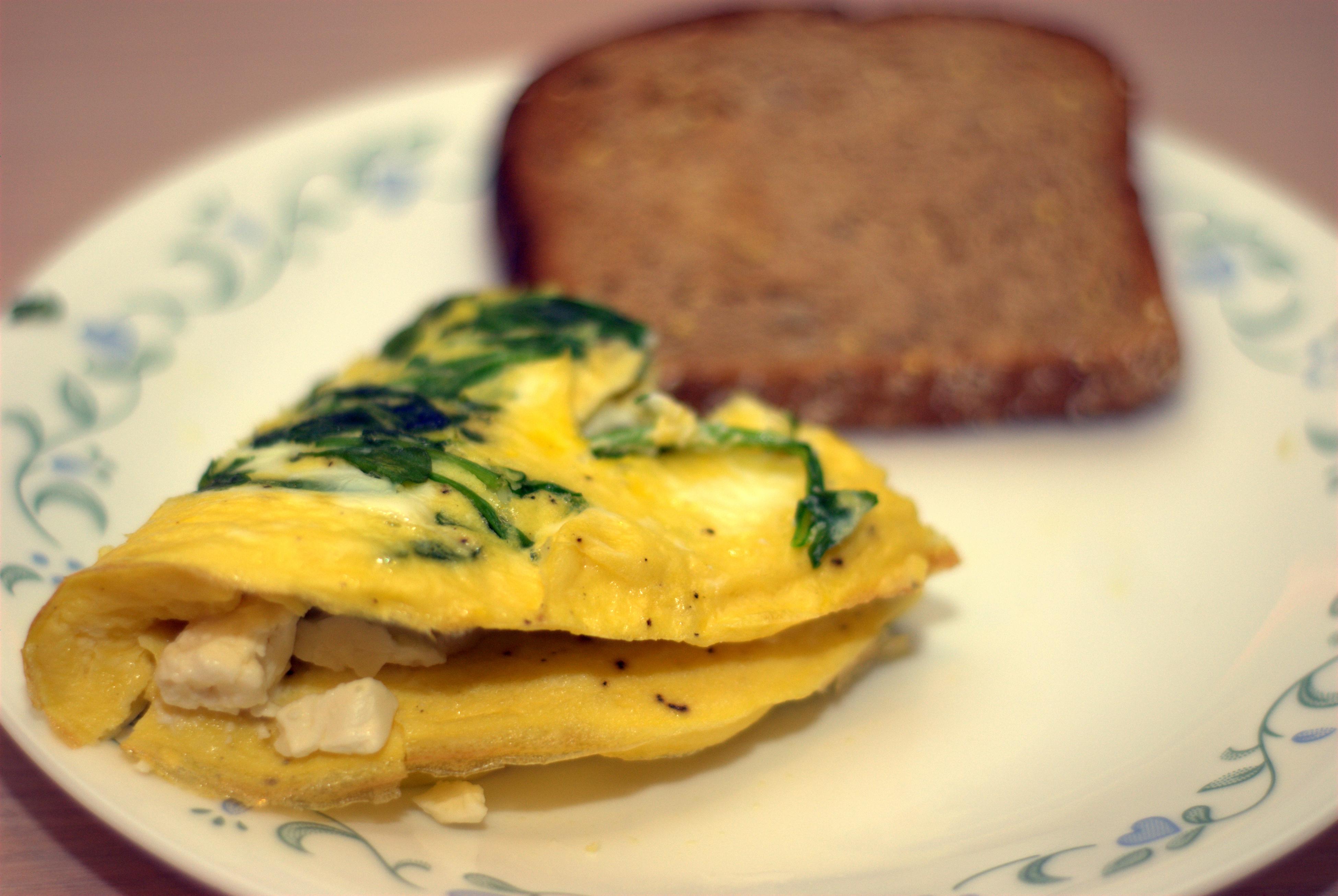 bathie omelette à la feta larousse spinach amp feta omelette feta