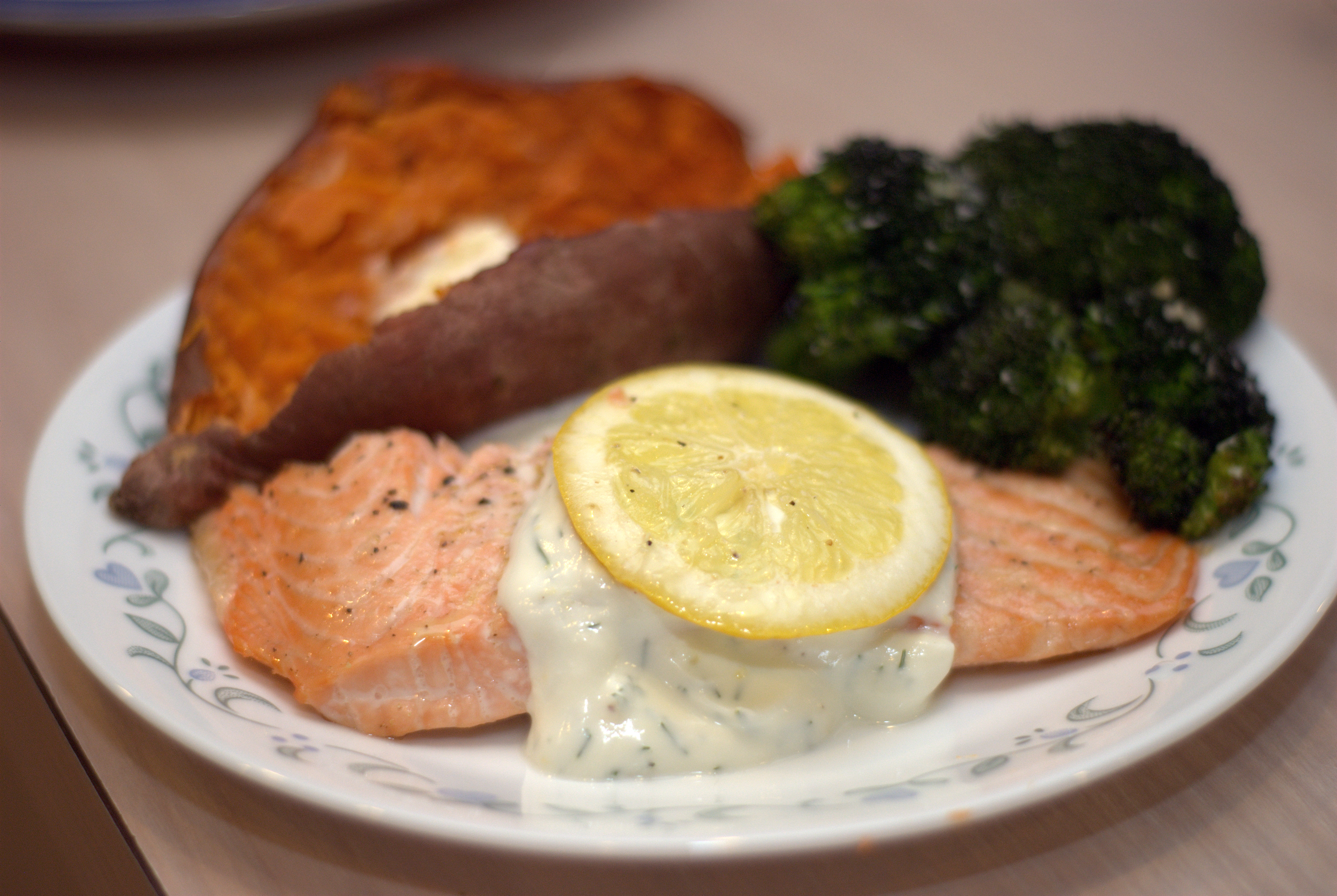 Roasted Salmon With Dill Sauce Recipe — Dishmaps